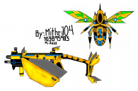Prime Artist:New Vector skin and parachute skin (bumble bee model)
