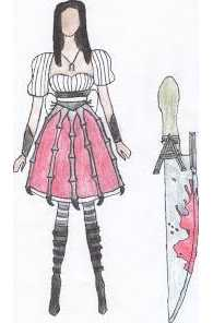 Damacus knife and deadly dress