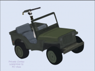 WWII Battle Jeep
