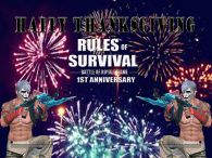 HAPPY 1ST ANNIVERSARY RULES OF SURVIVAL AND THANKSGIVING