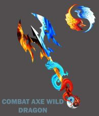 COMBAT AXE COOL FIRE DRAGON