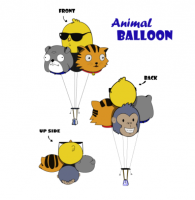 ANIMAL BALLOON PARACHUTE....!!!