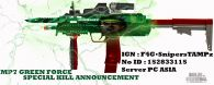 Green Force Skin Main Weapon n mele weapon