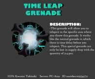 Time Leap Grenade