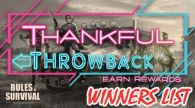 "Winners of ""Thankful Throwback"" Contest!"