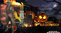 Halloween Survival featuring Scarecrow on Fire