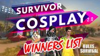 """Winners from """"Survivor Cosplay Contest V2.0"""""""