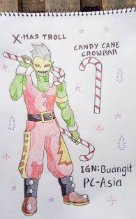 Yuletide X-Mas Troll and Candy Cane Crowbar