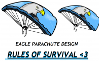 Eagle Parachute DESIGN! #RULESOFSURVIVAL #PARACHUTECONTEST